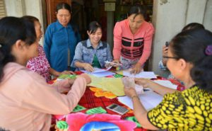 Monthly credit group meetings is a good opportunity to learn and share among poor women